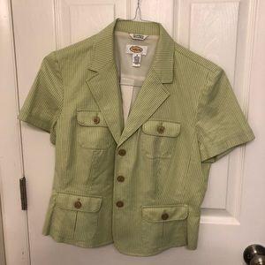 🆕 Talbots Short Sleeve Blazer Size 8